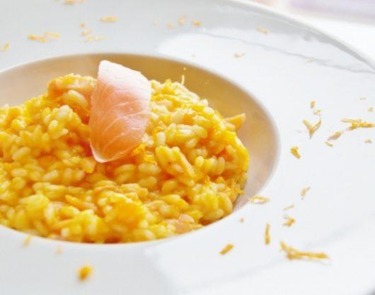 risotto con zucca e salmone affumicato
