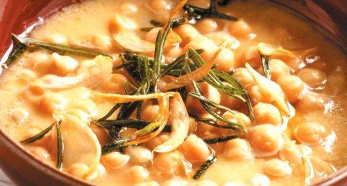 zuppa di ceci castagne e farro