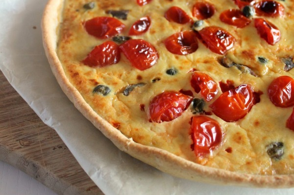 torta tonno pomodorini olive