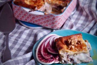 lasagne con radicchio piatto